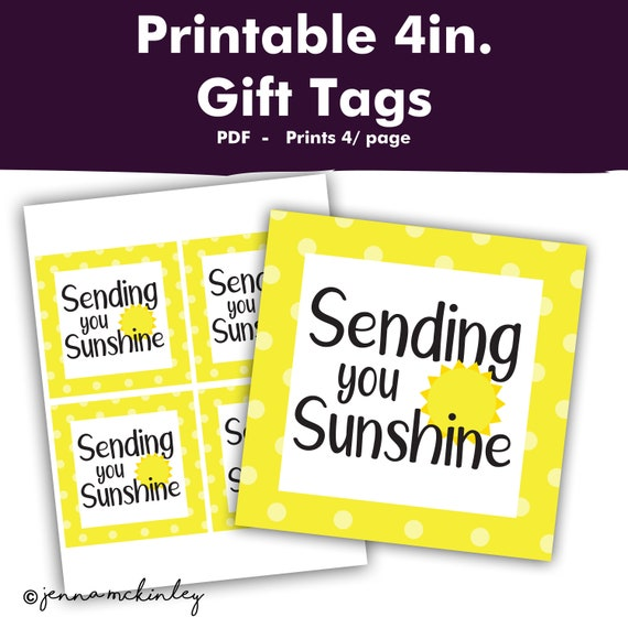 graphic regarding Basket of Sunshine Printable identified as Printable Sending By yourself Solar Treatment Package deal Yellow Reward
