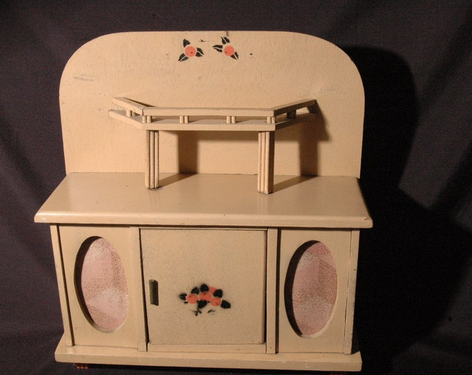old-fashioned miniature furniture buffet cabinet 1940 old vintage children's toy game