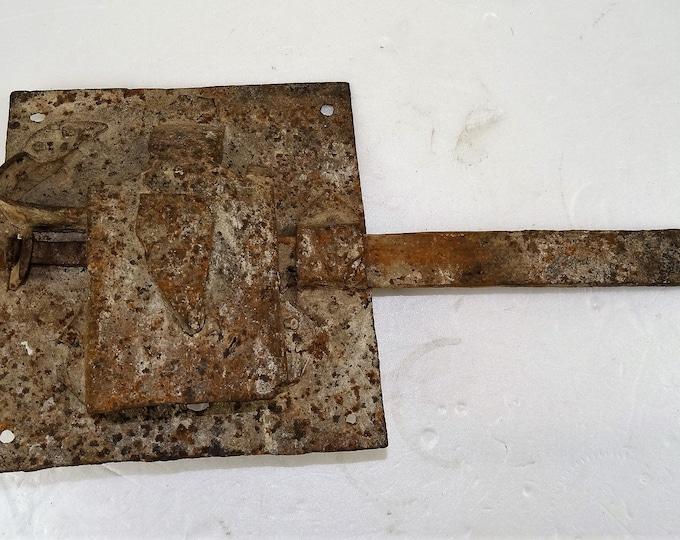 lock 19th century castle wrought iron steel