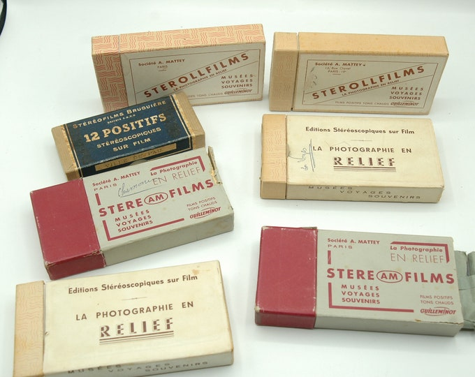 lot of MATTEY movies and sterollfilms for stereoscope GUILLEMINOT Contact me for the contents of each box