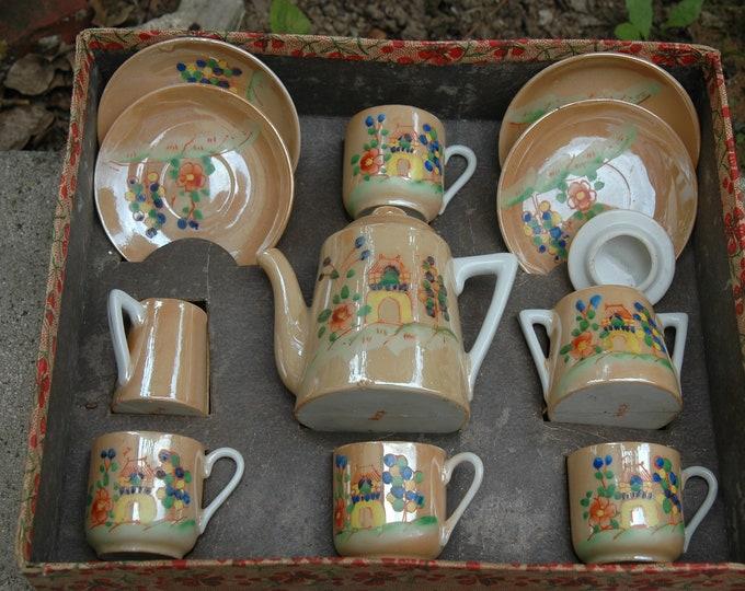dinette assortment TOY TEA SET complete porcelain japan