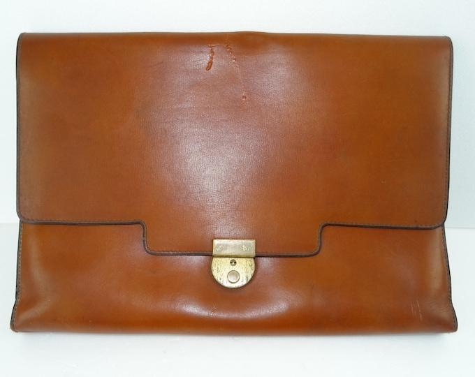 towel annees70 vintage leather satchel Briefcase