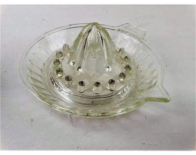 pressed glass vintage fruit bowl