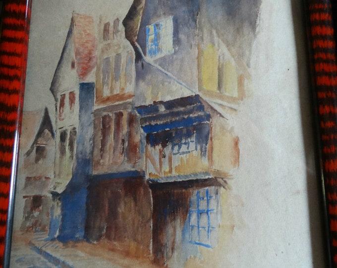 watercolor MARRIN MARTIN 1919 oil gouache painting