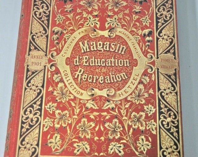 EDUCATION AND RECREATION STORE 1901 volume 13 and 14 HETZEL jules VERNE star