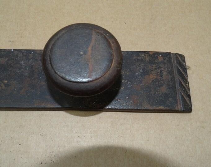 Old wrought iron door latch