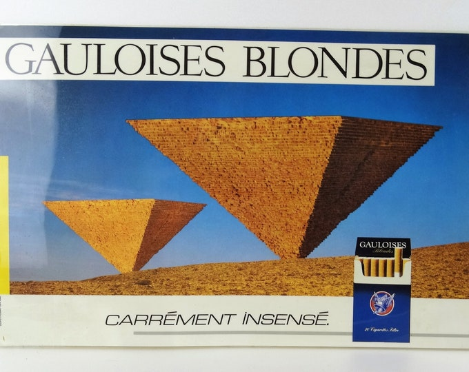 plate plastic blond Gallic advertising (2)
