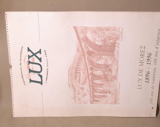 LUX eyewear manufacturer calendar 1886 1996 COMPLET vintage