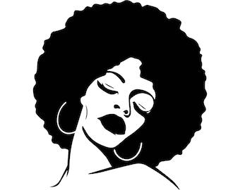 Download Afro svg | Etsy