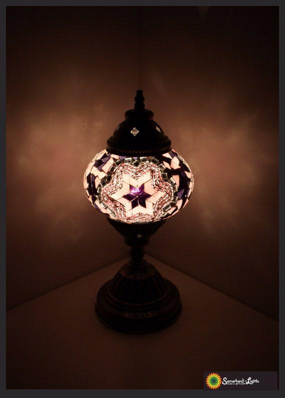 Mosaic table lamp m oriental lamp mosaic lamp mosaic lamps samarkand lights Purple