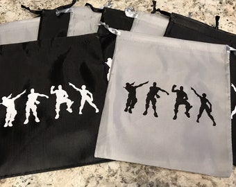 10 gaming birthday party printed 8 5 reusable goodie bag gift bag birthday party favors balloons - diy fortnite goodie bags