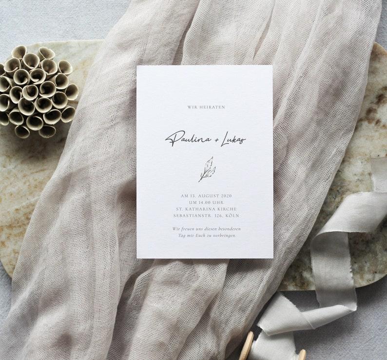 Hochzeitseinladung schlicht