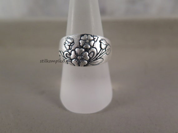 Vintage Hand Made Sterling Silver Floral Pattern Brooch FREE SHIPPING #SQFLWR-BR5
