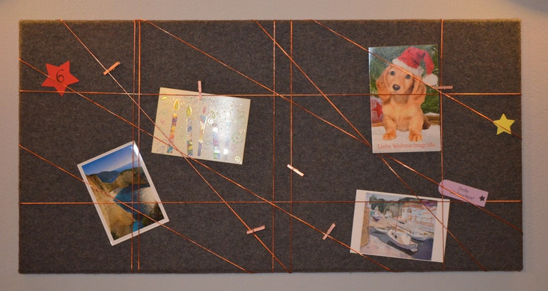 Memoboard-new collection-felt/40 x 80 cm