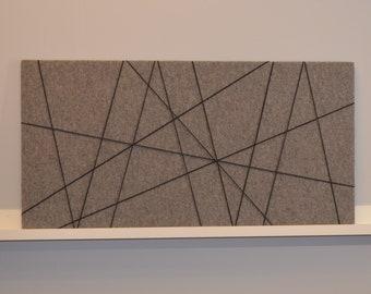 Memoboard - felt light grey 50 x 100 cm