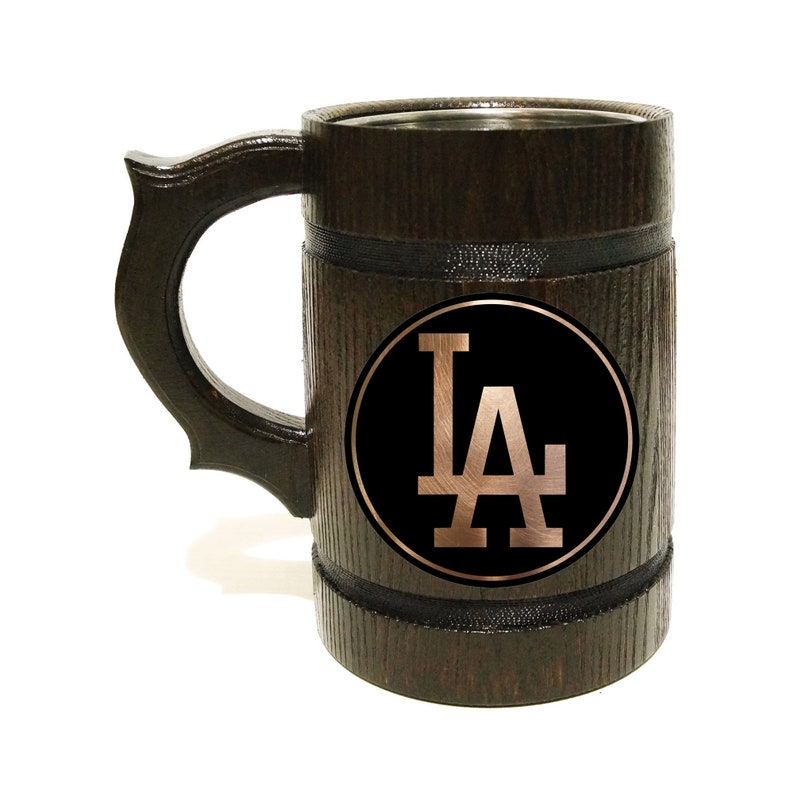 Los Angeles Dodgers Baseball Beer Stein For Groomsmen Gift