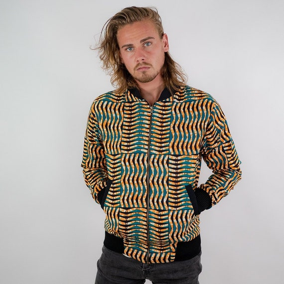 Colorful Bomber Jacket for Men 'Seagrass'