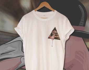 bdb03b59314a The Inquisitive Flamingo Mens | Womens | Unisex T-shirt | Animal T-shirt |  Funky T-shirt | Festival T-shirt | Vector T-shirt