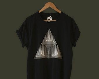 00e2c790 Cuboid   OpArt T-shirt   Vinyl T-shirt   Unisex T-shirt   Optical Illusions    Limited Edition   Techno T-shirt   Festival T-shirt