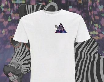 Cool Animal Unisex T-Shirt Zebras Roller Skating