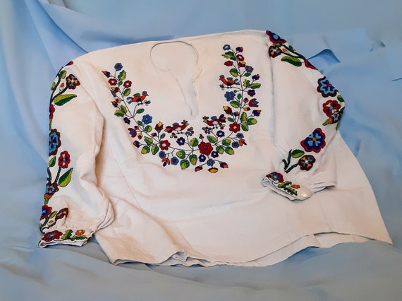 Traditional Folk Blouse with  Embroidery