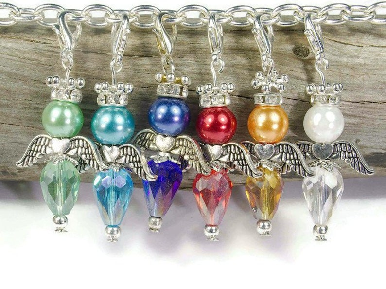 Angel Bead Pendant Kit Gold Glass Angels Metallic Jewellery Craft gift Christmas