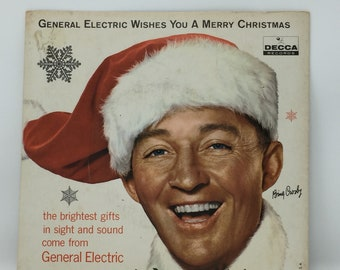 vintage bing crosby 33 13 seven inch ge merry christmas mono and stereo record - Bing Crosby I Wish You A Merry Christmas