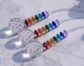 Crystal Suncatcher Rainbow Maker Hanging Prism, Chakra, Feng Shui Window Display