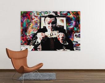 office artwork canvas. Modren Artwork Wolf Of Wall Street Canvas Art  Inspirational For OfficeHome  Ready To Hang Modern Canvas Artwork With Office Artwork K