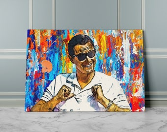 Wolf of wall street etsy wolf of wall street canvas art inspirational wall art for office ready to hang modern canvas artwork canvas wall art pop culture art publicscrutiny Images