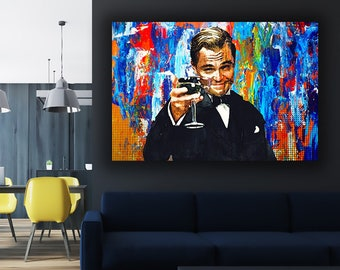 Wolf canvas etsy wolf of wall street canvas art inspirational wall art for office ready to hang modern canvas artwork canvas wall art pop culture art publicscrutiny Images