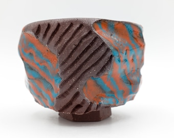 Orange and Turquoise Cup