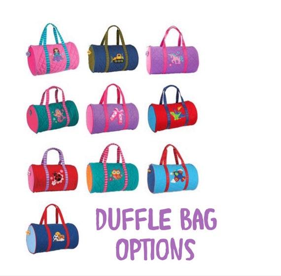48795cffa00d Personalized Duffle Bag, Stephen Joseph kids bag, Monogram duffle bag, Kids  Quilted duffle bag