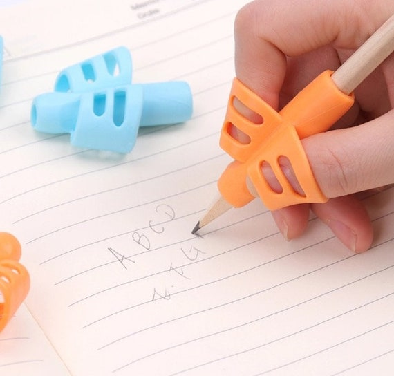 Two Finger Grip Silicone Pencil Holder Corrector for Baby Kids Learning Writing.