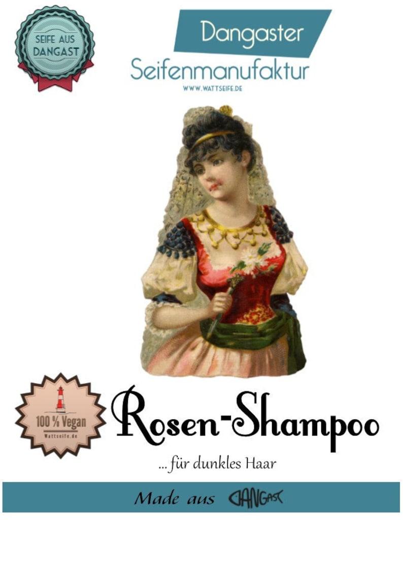 Natural Soap  Soap  Shampoo: Rose for Dark Hair  Palm Oil image 0
