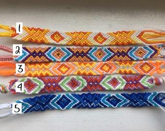ef775b6d7a196 Aztec friendship bracelet | Etsy