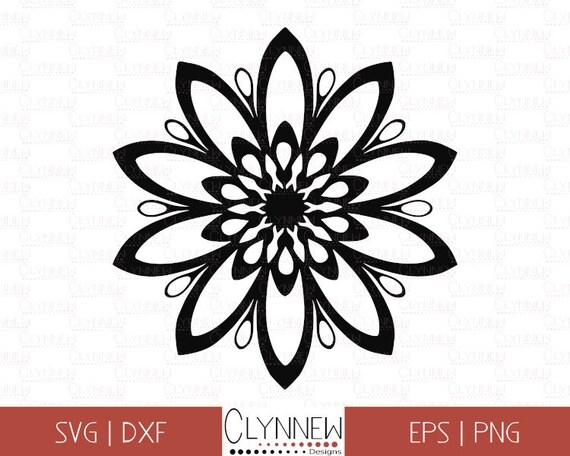 Simple Flower SVG, Flower Vector, Star Shape SVG Flower Template for Vinyl  Cutting, Geometric Design, Black Outline, Digital Download, Dxf