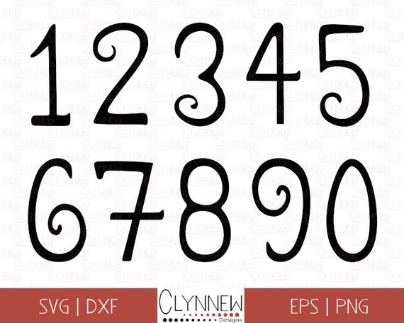 picture regarding Printable Numbers 0-9 titled Silhouette Figures SVG Clipart, Printable Quantities, Handwritten 0-9 Electronic Templates for Vinyl Reducing / Stamps, Obtain Png, Eps, Dxf, SVG
