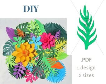palm leaf printable etsy