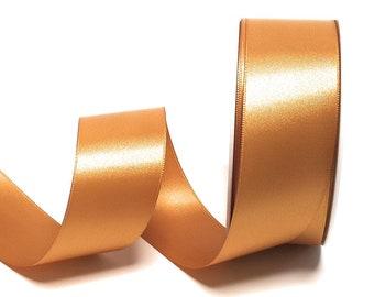 Schleifenband 25m x 15mm GOLDBAND Geschenkband DEKOBAND GOLD ohne Draht