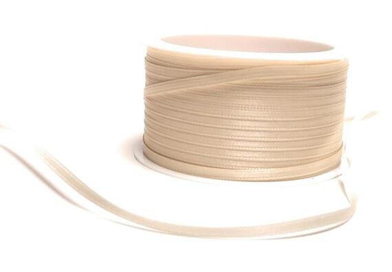 5 m Satinband 20 mm Schleifenband  Ivory Creme