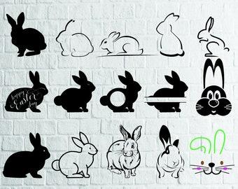 BUY 3 GET 1 FREE15 Rabbit Svg Bundle Face Monogram Files For CricutCuttingPrintetcFiles Download SvgDxfPngEps
