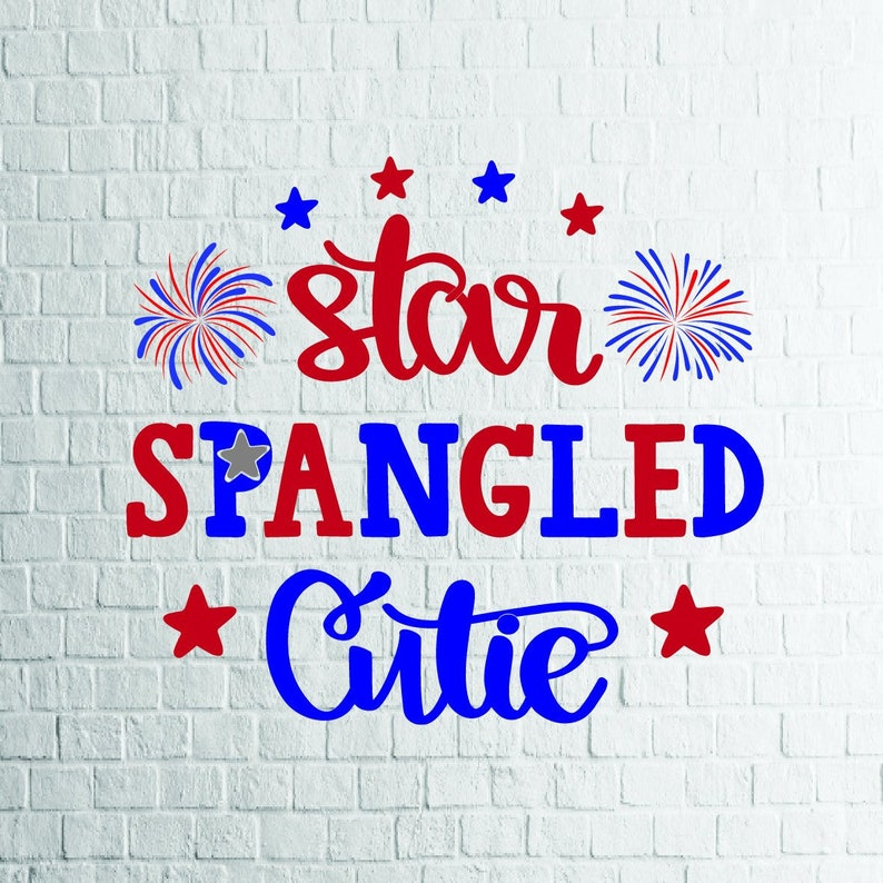 Buy 3 Get 1 Free Star Spangled Cutie Svg 4th Of July Svg Etsy