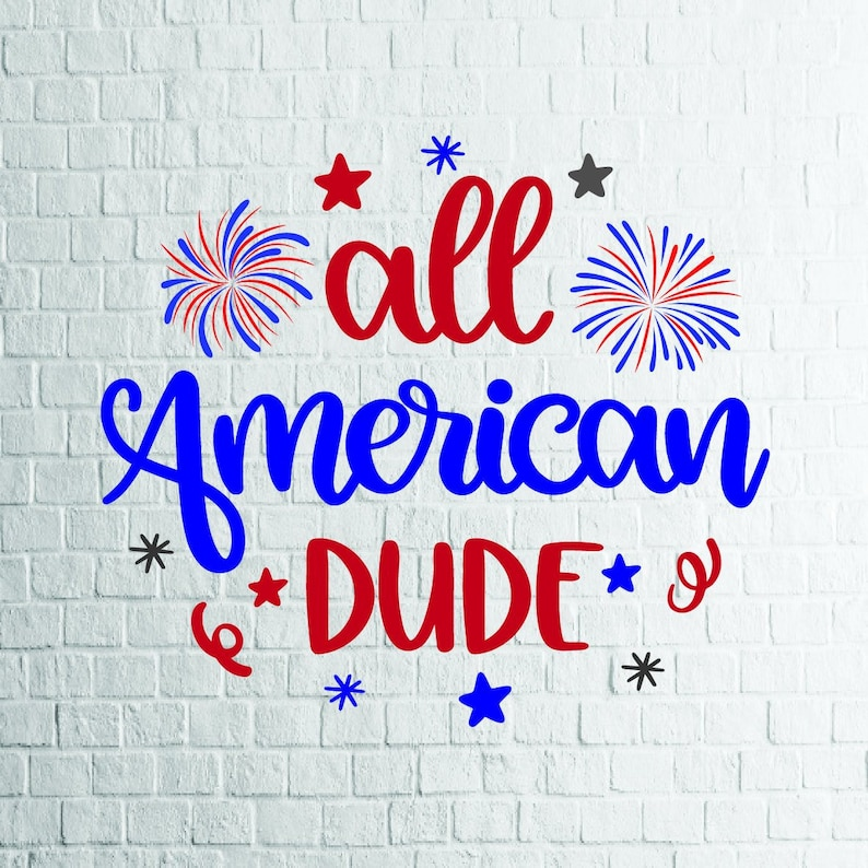 BUY 3 GET 1 FREE     All American Dude Svg, 4th Of July Svg, Files For  Cricut, Cutting, Print     etc, Files Download Svg, Dxf, Png, Eps