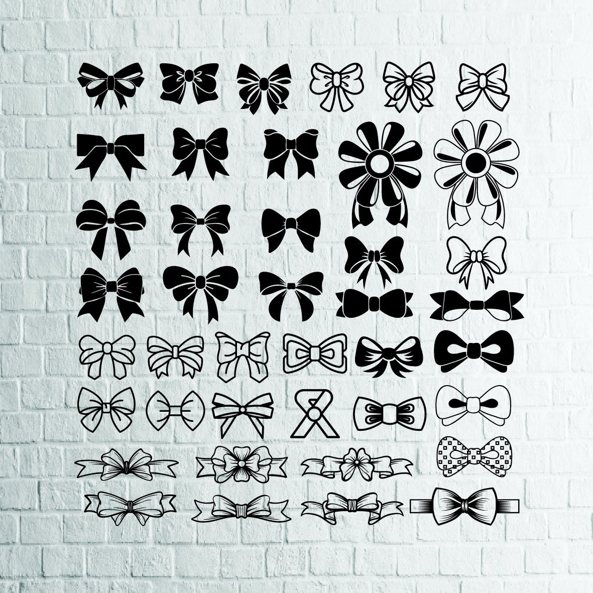 Buy 3 Get 1 Free 41 Bows Svg Bundle Bow Vectortie Svgbow Etsy