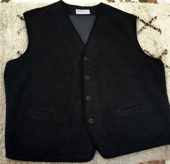VTG Burberry's of london waistcoat Vest Gilet Wool