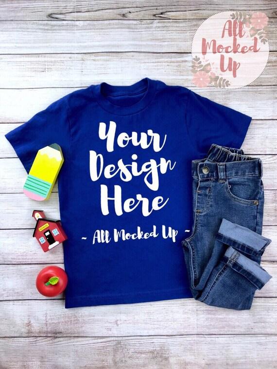 Next Level 3310 Boys Royal Blue T Shirt Tshirt Mock Up Mockup Etsy