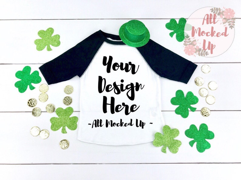fb0dc9da Rabbit Skins 3330 Raglan St. Patrick's Day Theme Mock Up | Etsy