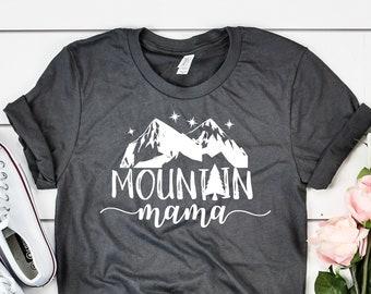 ac83316b Mountain Mama Shirt, Summer Shirt, Camping T-shirt,Happy Camper T-Shirt, Mountain  T shirt, Camping Shirt, Adventure Shirt, Wanderlust Shirt
