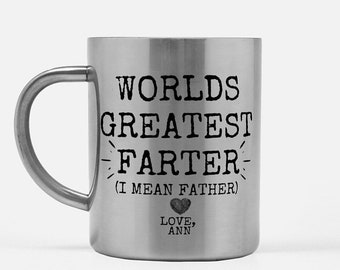 45360256 Funny Fathers Day Mug, World's Greatest Farter, Birthday Mug for Dad,  Father's Day Gift from Son,Dad Mug from daughter, Father's Day Gift